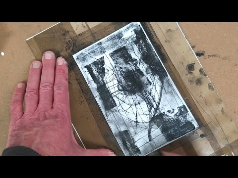 Simple monoprinting technique with oil stick
