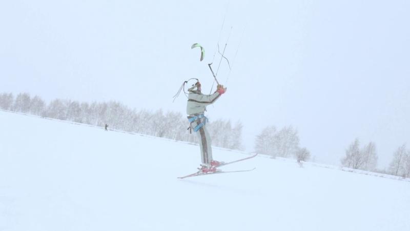 Snowkiting in Nizhny Novgorod 2019 Leo