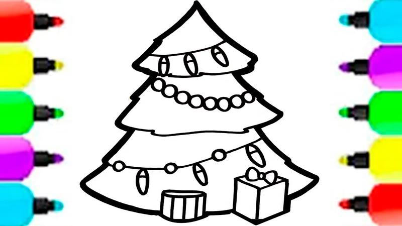 Kami menggambar pohon Natal dengan mainan Tahun Baru