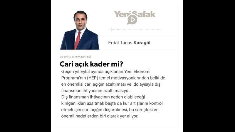 Erdal Tanas Karagöl Cari açık kader mi 20 05 2019