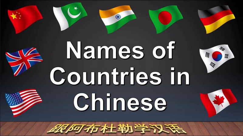 Country Name In Chinese | Mandarin Countries of the World (HD)|Learn Chinese WIth Abdul Urdu/Hindi