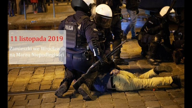 Zamieszki na Marszu Niepodległości we Wrocławiu. Policja użyła armatki wodne i gaz łzawiący