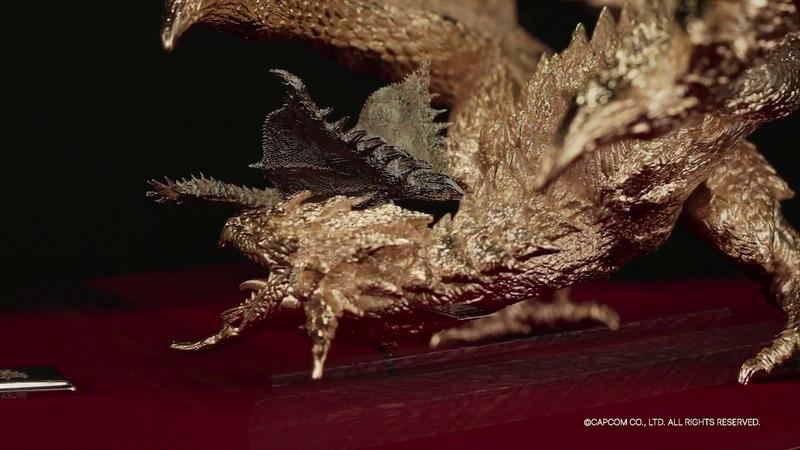 【モンスターハンター】純プラチナ・純金製のフィギュア