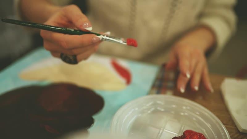 Мастер класс по живописи акрилом с декорированием объемными деталями Арт вечеринки Нижневартовск Творческие МК