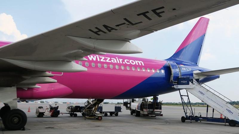 Airbus A321-200 а/к Wizz Air | Рейс Санкт-Петербург - Будапешт