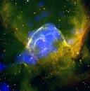 Эмиссионная туманность NGC 2359 Шлем Тора расположенная в 15 тыс
