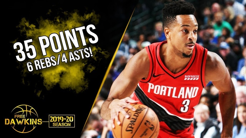 CJ McCollum Full Highlights 2019.10.27 Mavs vs Blazers - 35 Pts, 6 Rebs, 4 Asts, CLUTCH!