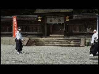 Kobudo-takagi ryu jujutsu 熊野本宮大社で高木流柔術の演武 平成