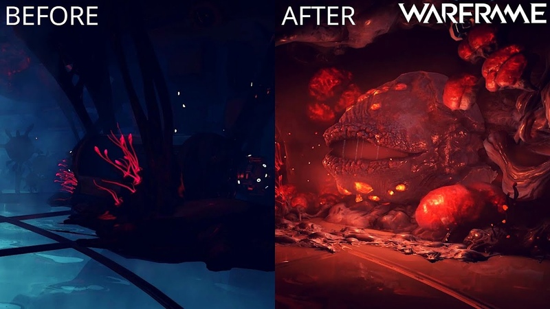 Warframe Helminth Room Before After Heart of Deimos