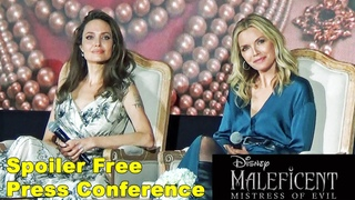 Maleficent: Mistress of Evil Press Conference - Edited for Spoilers - with Angelina Jolie +