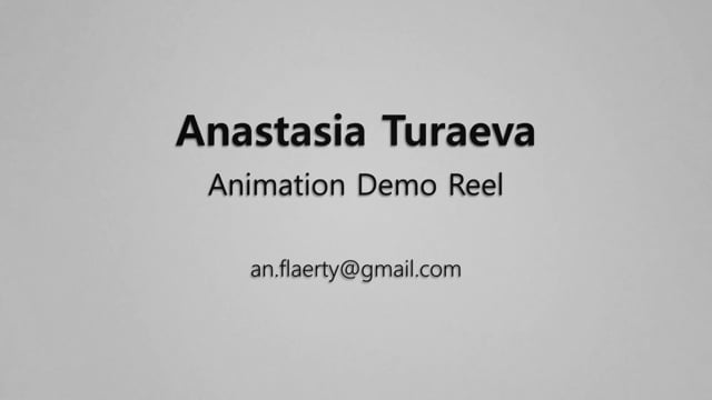 Anastasia Turaeva Animation Demoreel