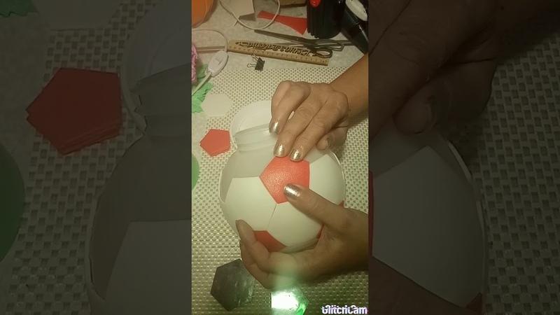 Светильник мяч Сборка по шаблонам 1 вариант