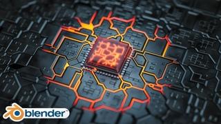 Blender - Hard Surface landscape in Blender 2.8