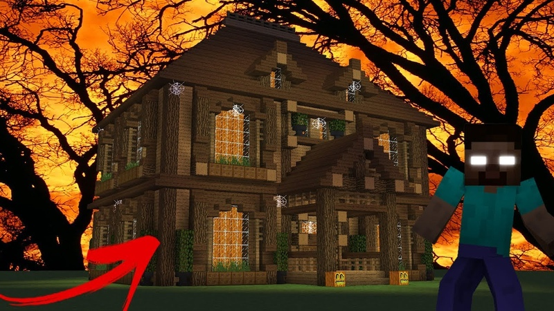 Minecraft Tutorial How To Make A HEROBRINE Haunted House Survival House