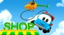 Um helicóptero Léo o caminhão Desenhos animados
