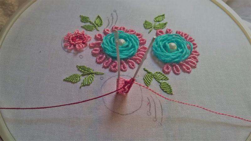 Hand embroidery Brazilian embroidery design leisha's galaxy