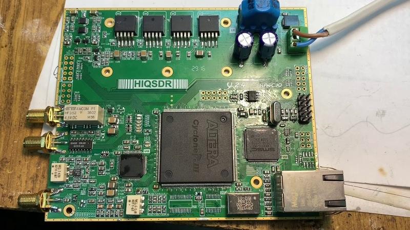 Сборка HiQSDR Трансивер наконец то ожил