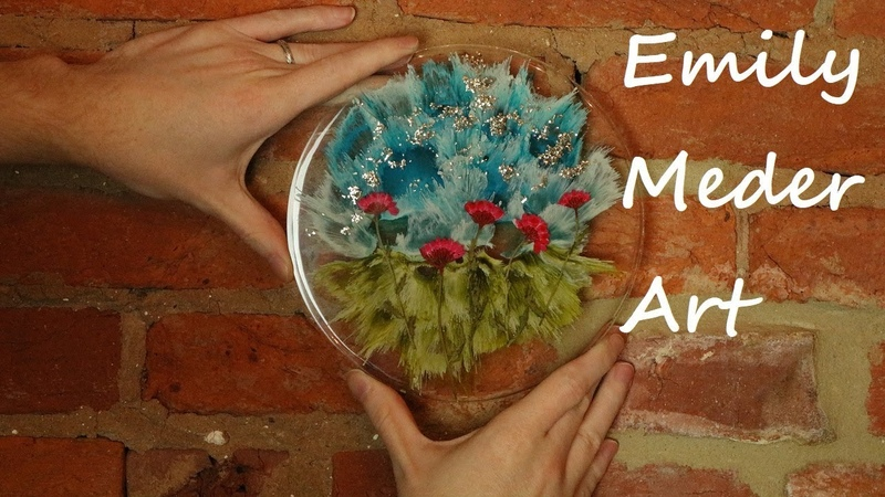 Dried Flowers and Alcohol Ink in Resin Using Total Boat Resin and Let's Resin Molds