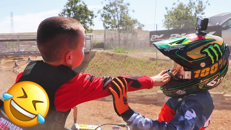 Motocross Fight at Hangtown Dangerboy Gets Taken Out