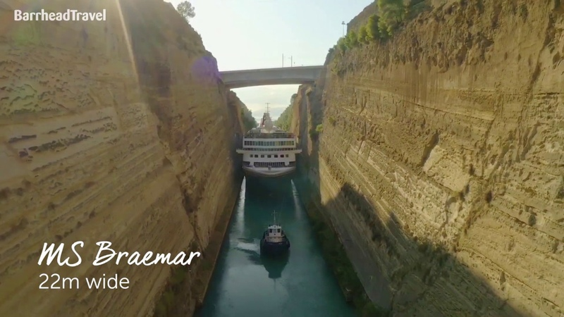 Fred Olsen's Braemar in the Corinth Canal Barrhead Travel