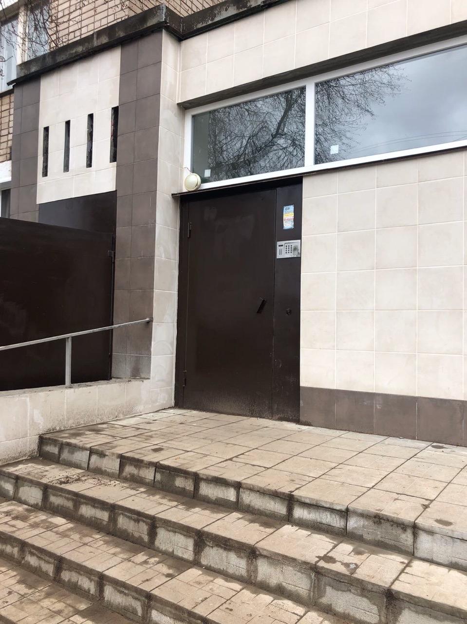 Улица Ердякова дом 20 ремонт входной группы