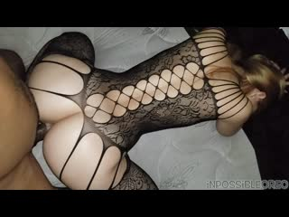 Slim thick pawg gets fucked with her tight lingerie bodysuit on inpossibleoreo
