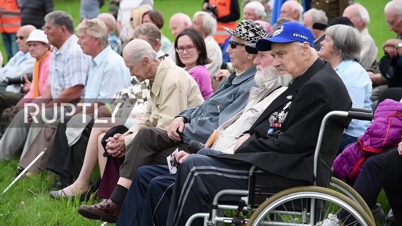 Estonia Waffen SS veterans commemorate 73 anniv of Battle of Tannenberg Line