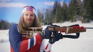 Пародия норвежского биатлониста