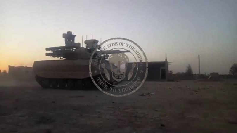 роботизированный комплекс УРАН в Сирии