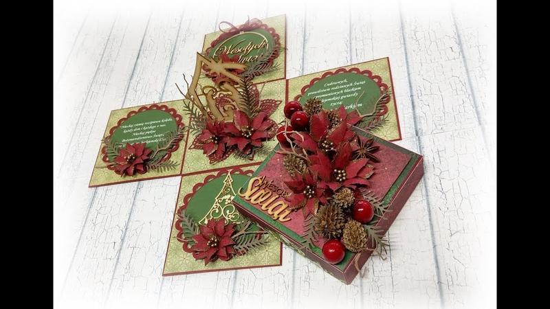 ZRÓBMY TO RAZEM świąteczny Exploding Box TUTORIAL