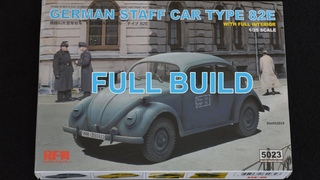 Ryefield model's 1/35 German staff car type 82E (Full Build)