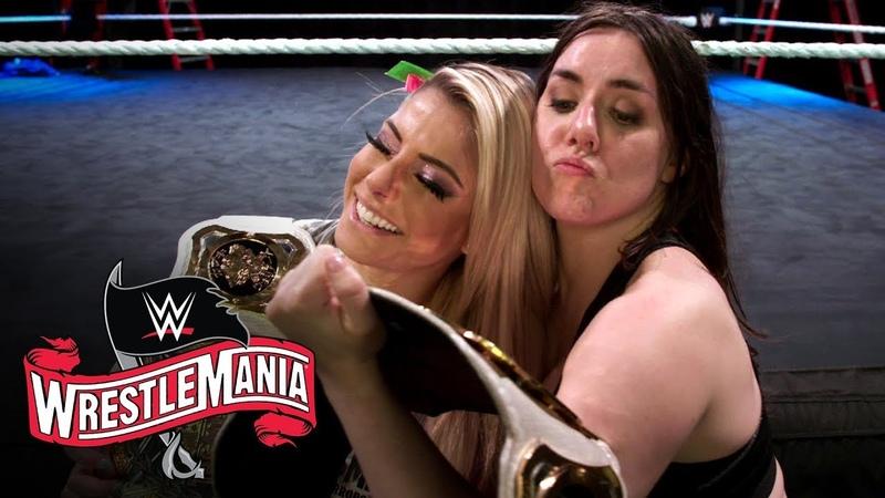 Video@alexablissdaily Alexa Bliss Nikki Cross celebrate WrestleMania victory WWE Exclusive April 4 2020