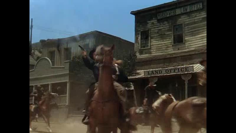 Налёт партизан-конфедератов на городок (Канзасские рейдеры (1950)