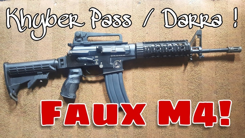 M4 Shape AK Action Rifle In 5 56x45 223 Pakistani Khyber Darra Made