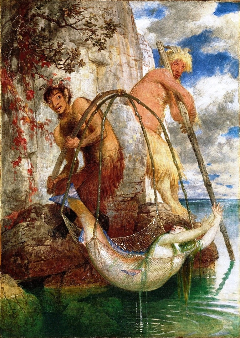 Арнольд Беклин (1827-1901) Швейцария , Рыбалка Пана