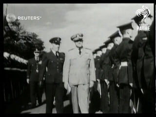American chiefs of staff arrive in London for defence talks (1949)