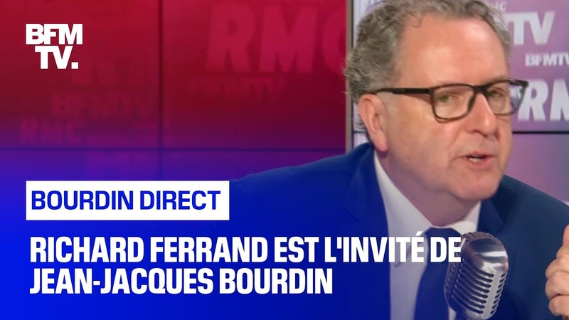 Richard Ferrand face à Jean Jacques Bourdin en direct