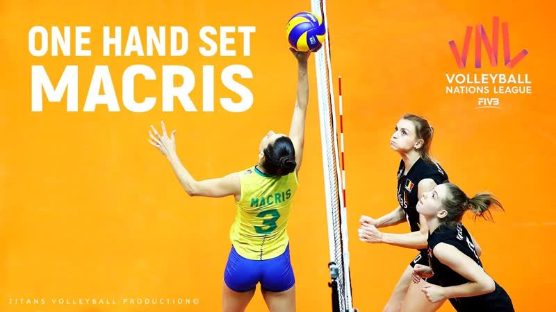 ONE HANDED Volleyball SETS by Macris Carneiro Womens VNL 2019