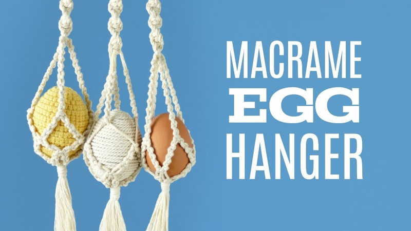 MINI PLANT HANGER DIY | MACRAME EGG HANGER | EASTER DECORATIONS