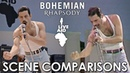 Live Aid Bohemian Rhapsody 2018 scene comparisons
