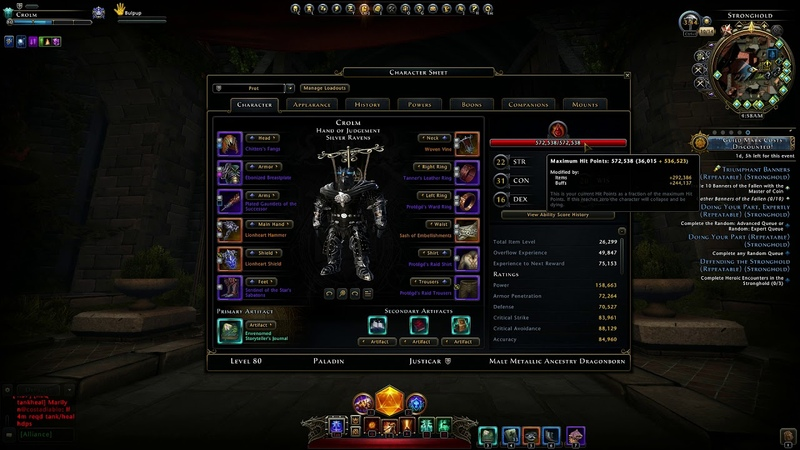 Updated Paladin Build LoMM and under content