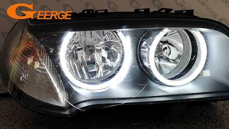 For BMW E83 X3 2007-2010 Halogen headlight Excellent Quality angel eyes Ultra bright illumination CCFL Angel Eyes kit Halo Ring