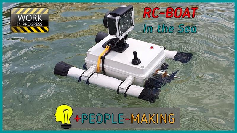 RC Boat Part 2° Barca radiocomandata meccanica elettronica e prova