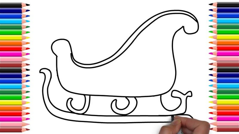 How to draw santa claus sleigh step by step (Easy Steps) | Christmas Drawings