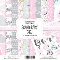 Набор скрапбумаги Scandi Baby Girl, 30,5x30,5см 376 р