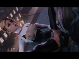 Spider-Gwen X Venom (Marvel sex)