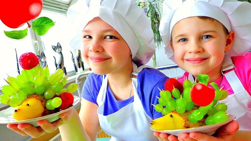 Готовим с детьми фруктовый салат от Подружек