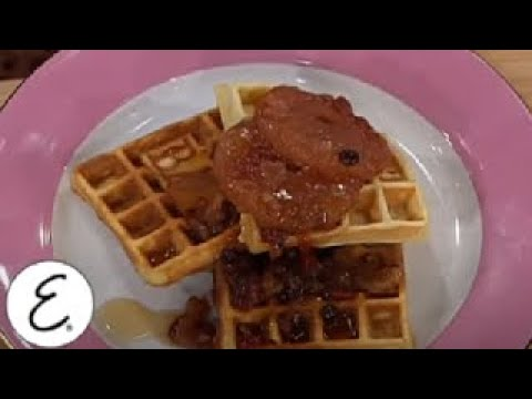 Pecan Waffles with Dried Fruit Compote Emeril Lagasse