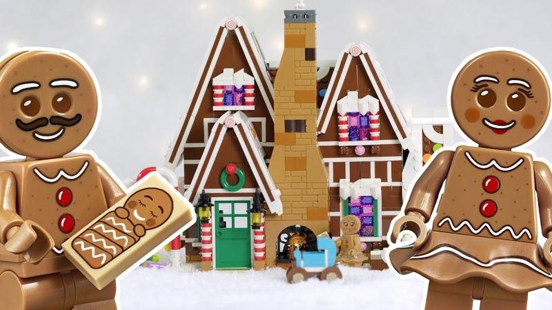 LEGO Gingerbread House LEGO Creator Expert Winter Village Set 2019 Designer Video