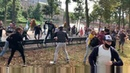 Clashes between anti-lockdown protestors and police in Hague